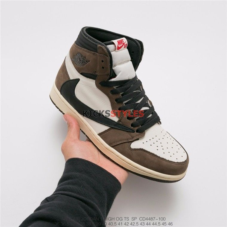 "6da9b5b59a2 Travis Scott Air Jordan Retro 1 High OG TS SP ""Cactus Jack"" CD4487-100"