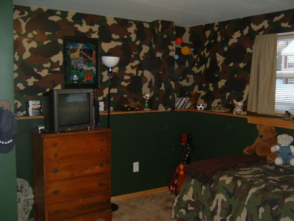 Camo Bedroom For Boys | Camo,army, Wife Hand Painted All The Camo,