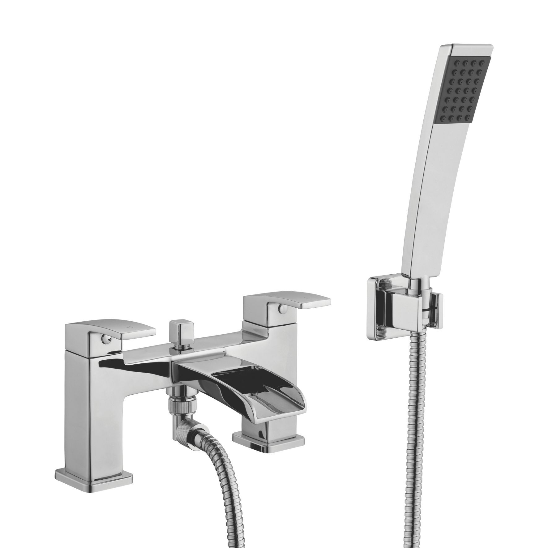 Cooke & Lewis Cascade Chrome Bath Shower Mixer Tap ...