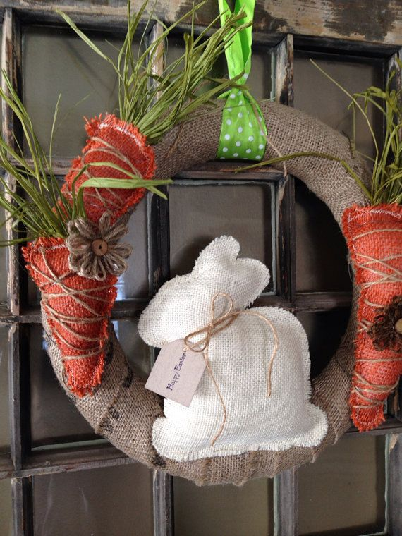 This adorable burlap Easter wreath is prefect for spring and ...
