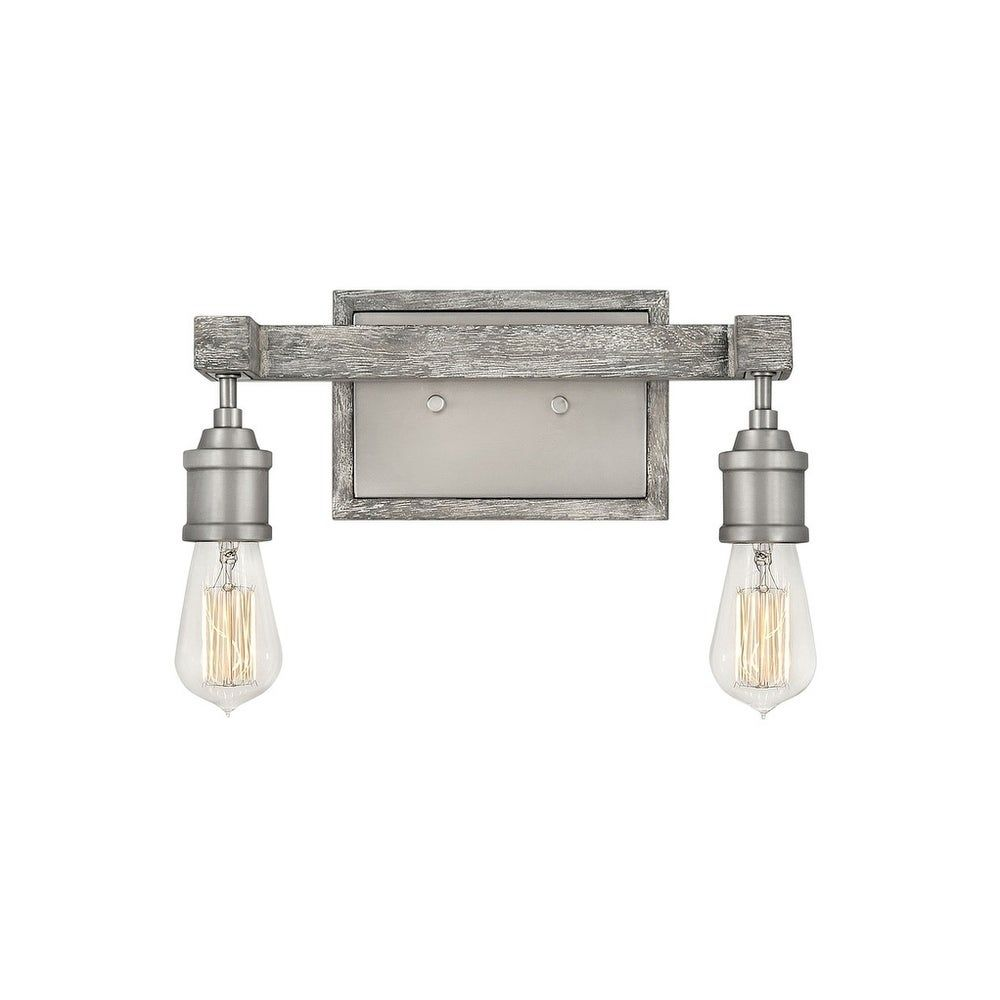 Photo of Hinkley Denton 2-light vanity in pewter, silver, Hinkley lighting