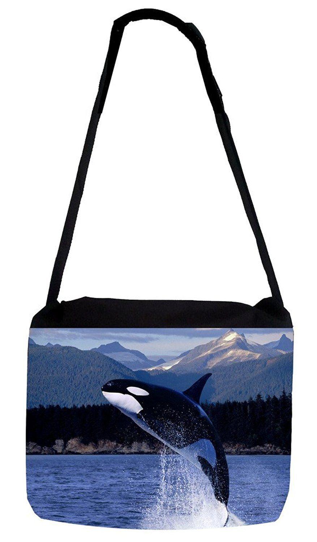 Animal Blue Whale Cross Body Shoulder Messenger Laptop Bag