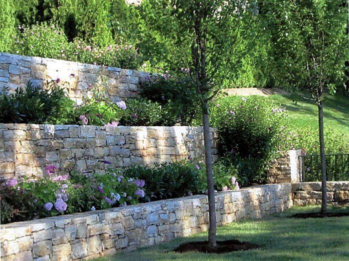 stone garden retainer walls gardens
