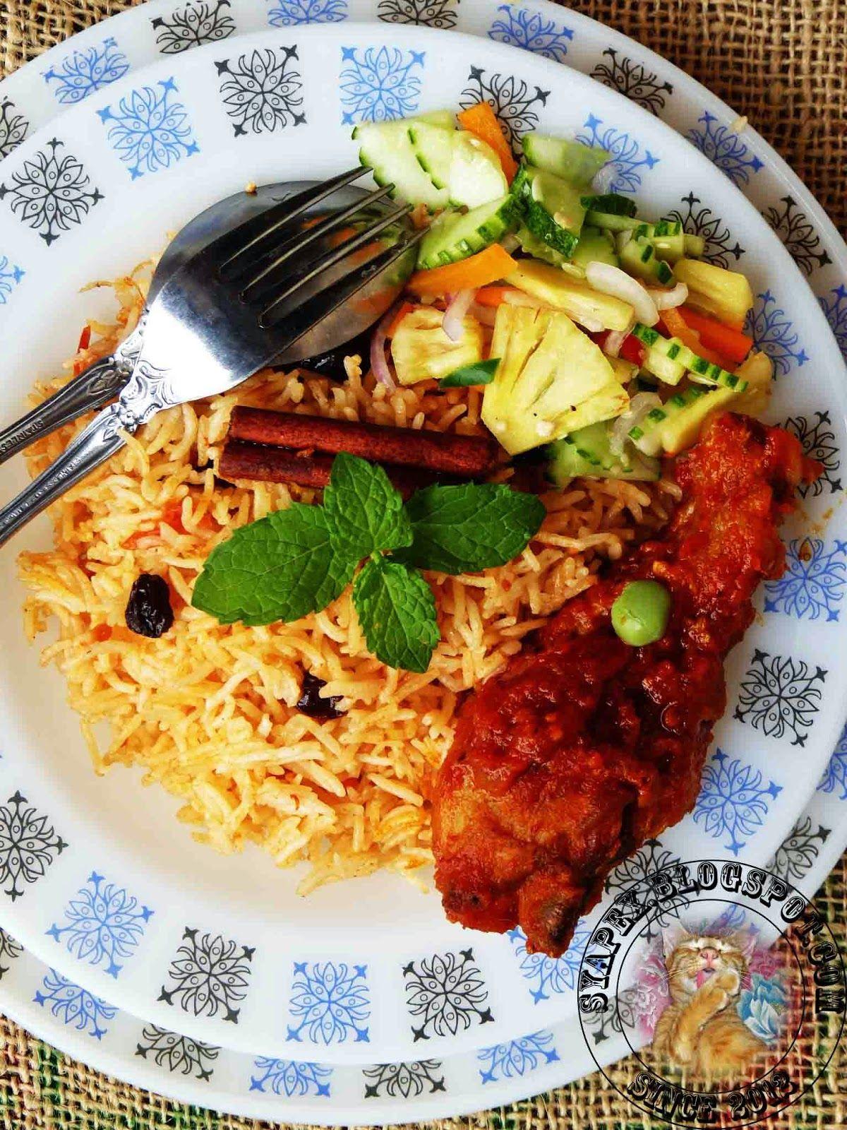 Nasi Tomato Ayam Masak Merah Dan Acar Timun Nenas Resep Masakan Asia Resep Masakan Malaysia Resep Makanan