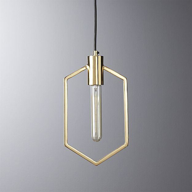 Unique Pendant Lighting Fixtures. geometric brass pendant light  Pendant lighting Lighting online