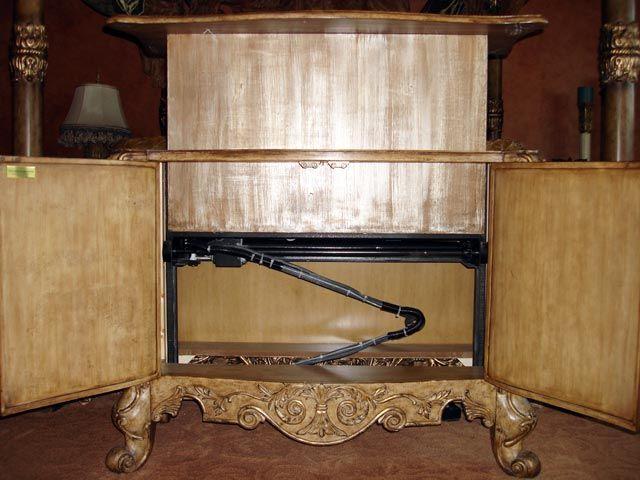 Custom Woodwork  King Custom Woodwork  Hidden tv stand  Home