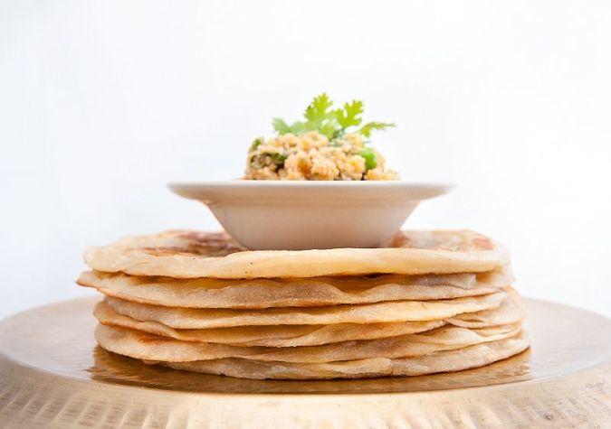 Parothas with Vegetable Korma