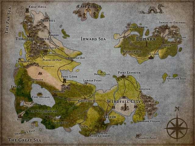 My First D&D maps using Inkarnate.com in 2019   D&D   Dnd world map ...