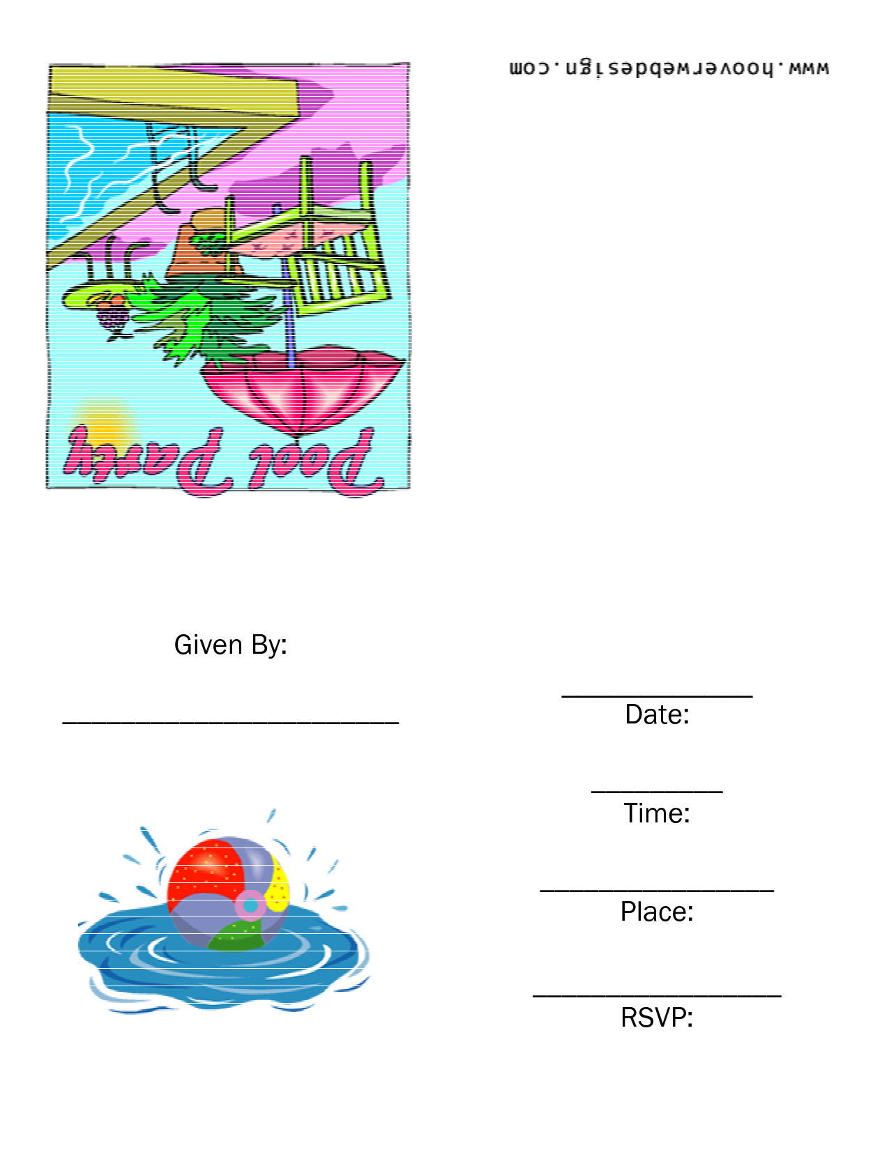 Printable Pool Party Free Printable Party Invitation Template ...