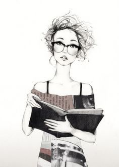 15dc5747df hipster glasses and bun drawing - Google Search