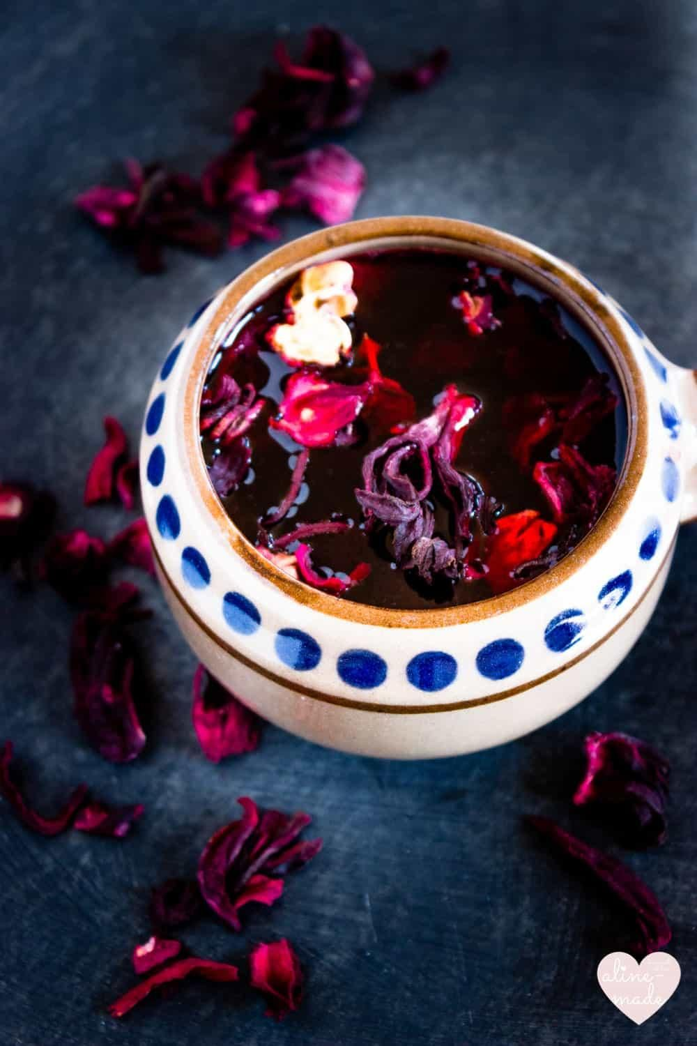 Agua De Jamaica Or Hibiscus Iced Tea Is Made Of Dried Hibiscus Flowers Drink It Cold On Ice Cubes Or As A Hot Jamaica Food Tropical Food Mexican Food Recipes
