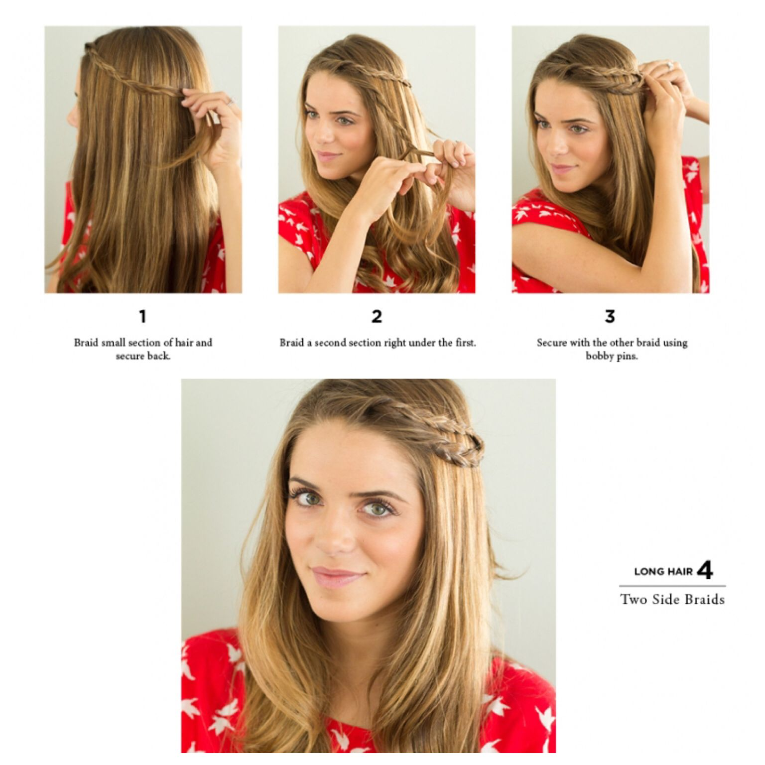 Hairstyle for summer simple and easy 2 side braids Follow ...