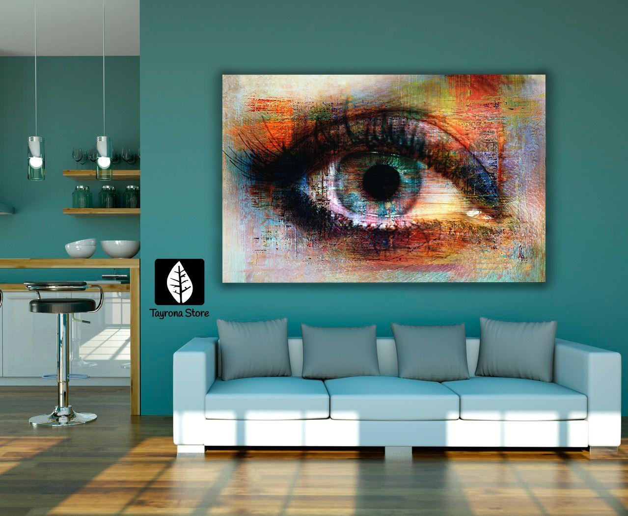 Cuadros decorativos ojo pintura tayronastore cuadros for Adornos decorativos para sala