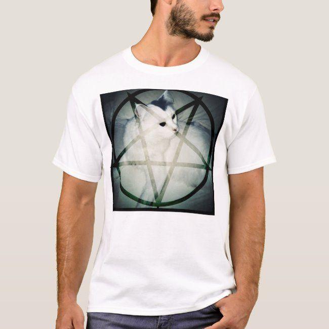 satan cat T-Shirt #kitty #kitten #cat #obey #worship #TShirt