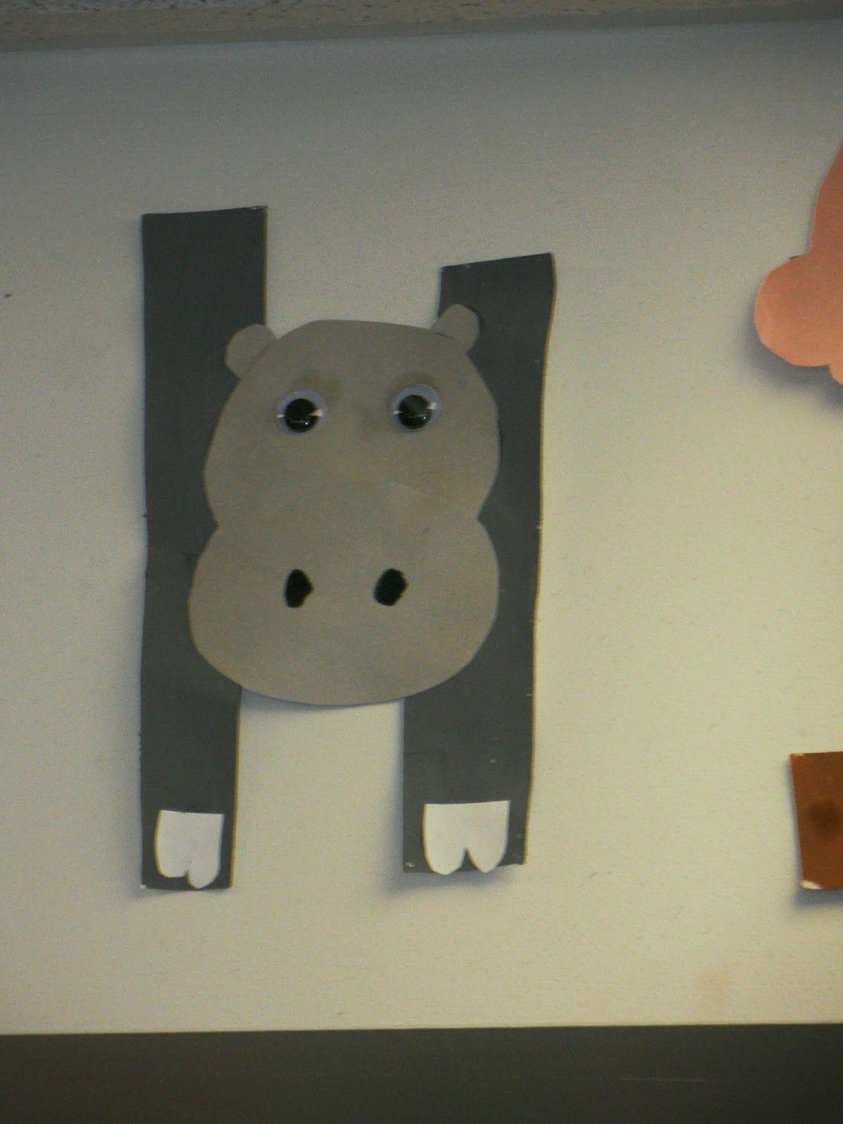 Preschool Art Letter H Hippo
