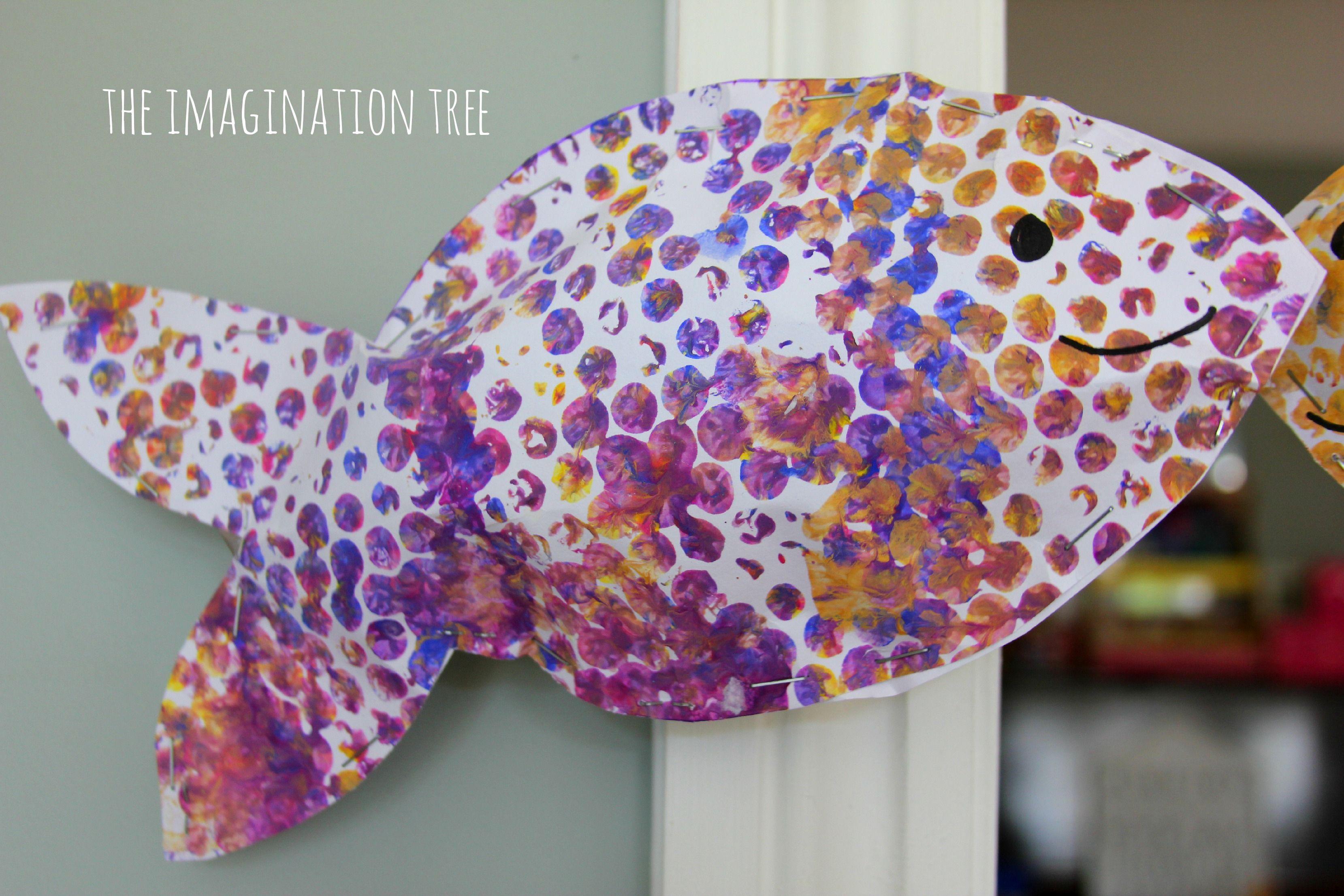 Bubble Wrap Print Fish Mobile