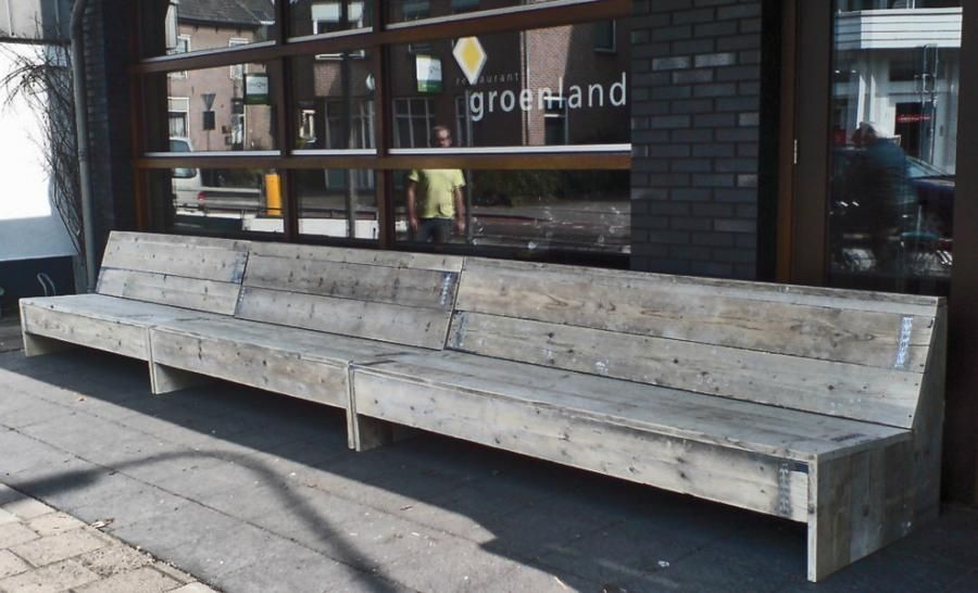 Steigerhouten Lange Bank Winkel   Bouwbedrijf van Rooy    u22f0 Outside   Pinterest   Pallet
