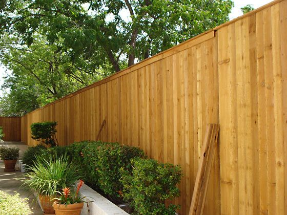 Wood Fences Gallery Viking Fence Commercial Full Privacy Cap Trim Wood Fence Fence Backyard