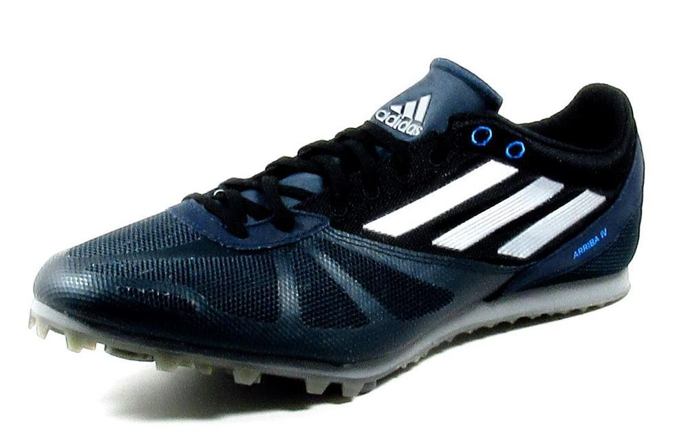 new concept 4987e 3200d Mens Adidas Arriba 4M Distance Track Spikes Sizes 11  12 BlueBlackSilver  Adidas DistanceTrackSpikes