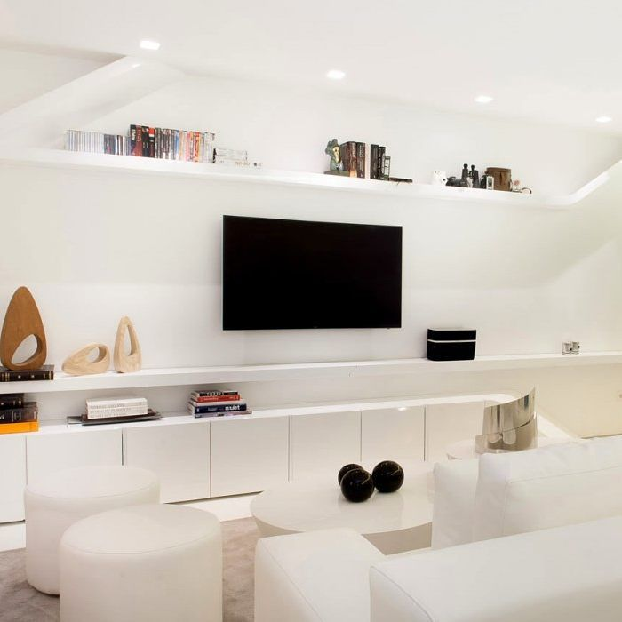 Room · Modern And Bright Entertainment Area. #interior #furniture #living # Sofa ...