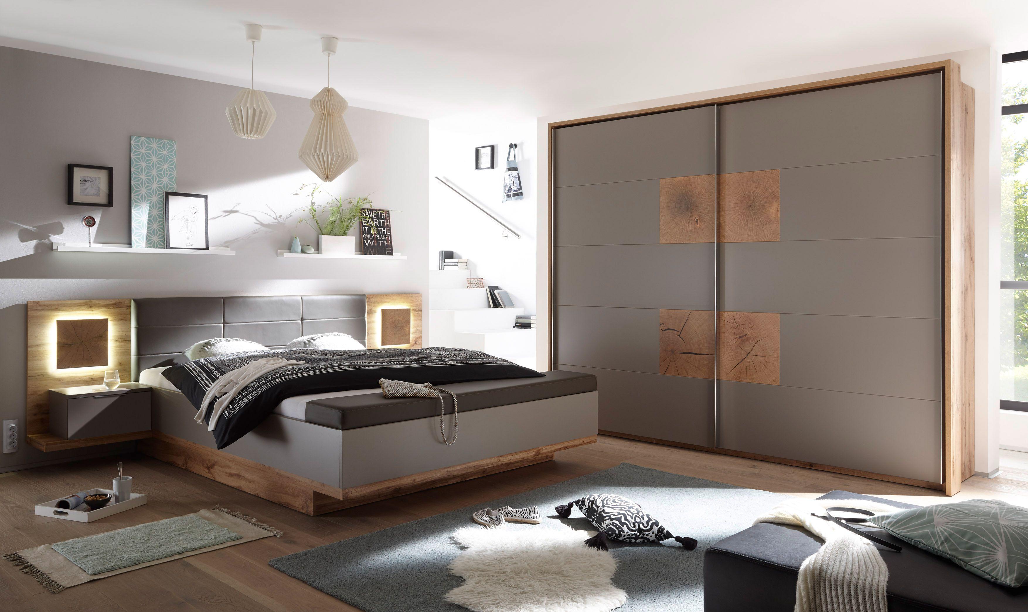 Schlafzimmer Komplett Set 4 Tlg Capri Xl Bett 180 Dekoration