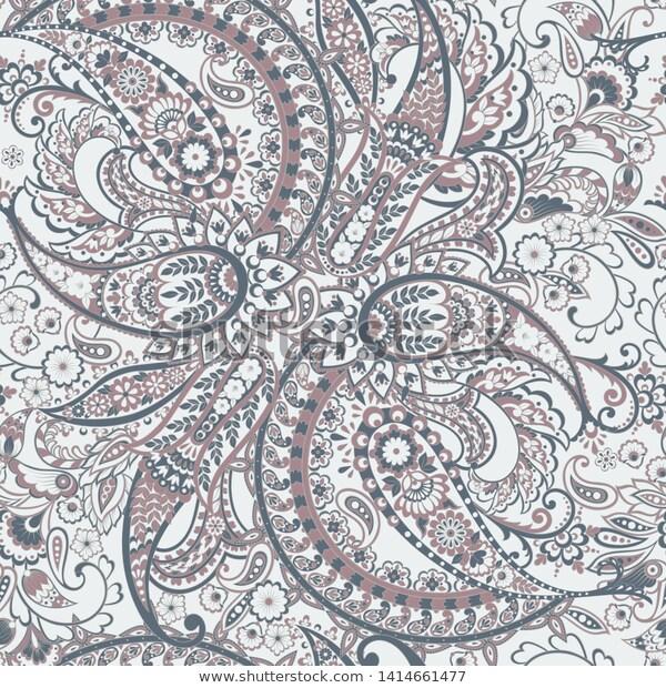 Find Paisley Seamless Pattern Vintage Background Batik