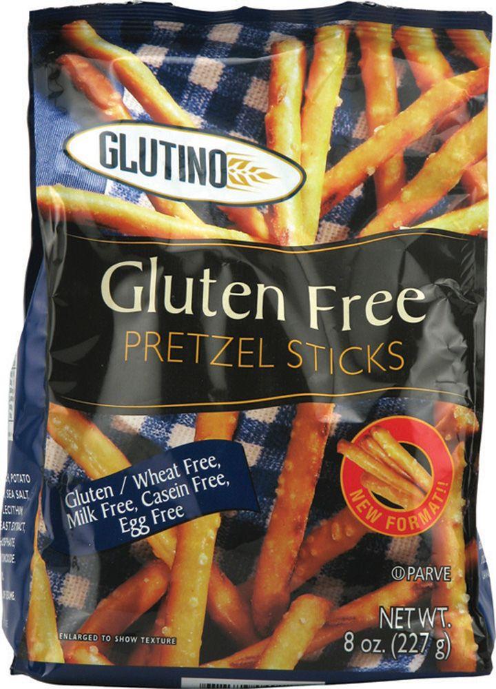Glutino gluten free pretzel sticks buttery salty flavor