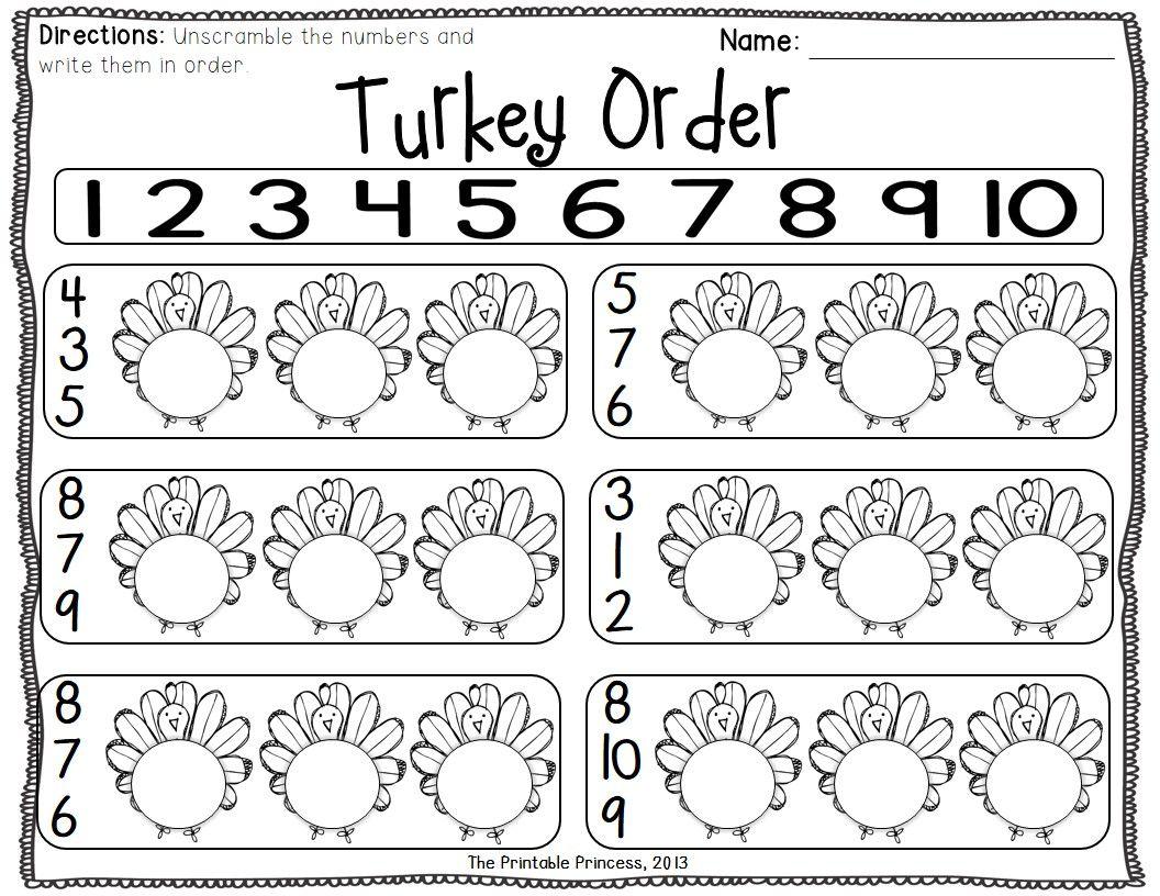 Thanksgiving Centers For Kindergarten