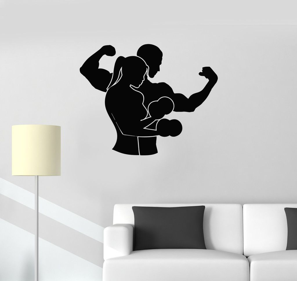 Vinyl Decal Sports Couple Gym Fitness Boxing Mma Martial Arts Wall Stickers Unique Gift Ig2719 Wall Stickers Unique Vinyl Decals Art Wall [ 969 x 1024 Pixel ]