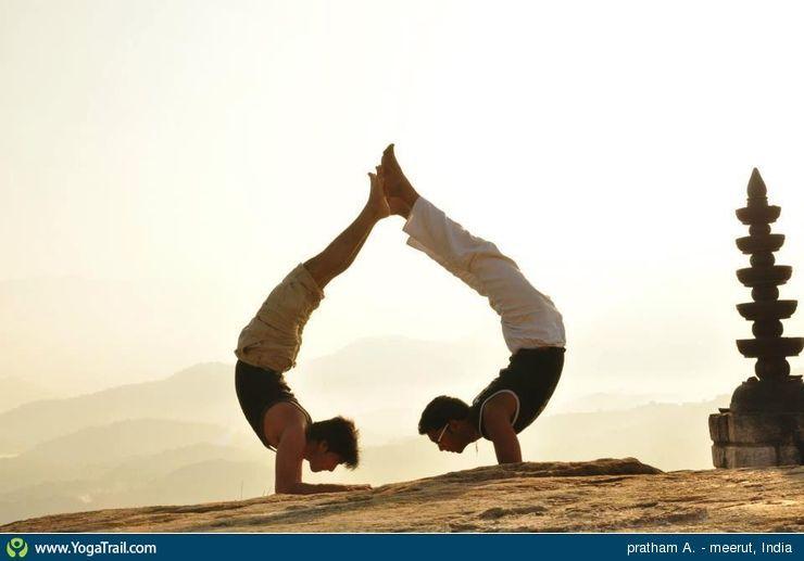 Easy Couple Yoga Poses
