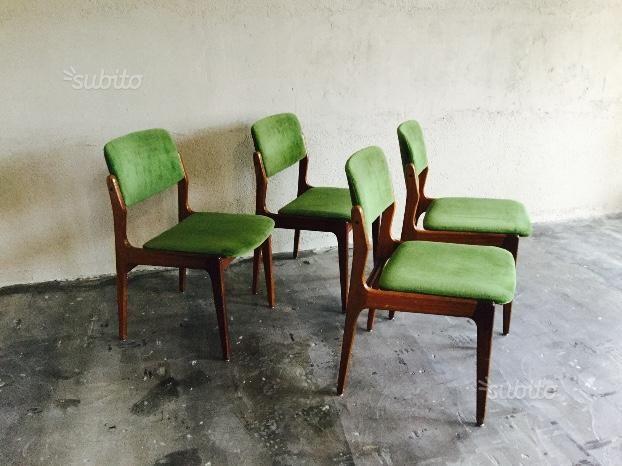 Sedie Scandinave ~ Quattro sedie scandinave anni in teak arredamento e