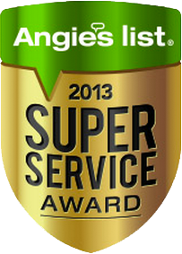 2013 Super Service Award from Angie's List Service