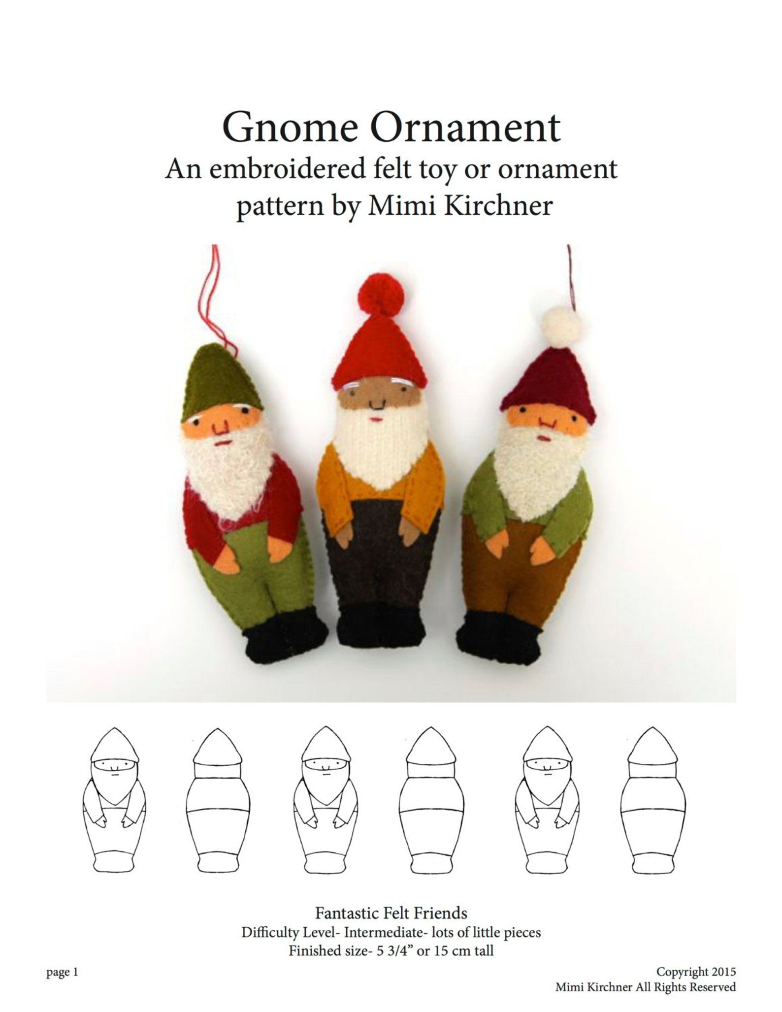 Gnome Elf Ornament Pdf Pattern Tutorial Felt Toy Embroidery Etsy Felt Christmas Ornaments Elf Ornaments Gnome Patterns