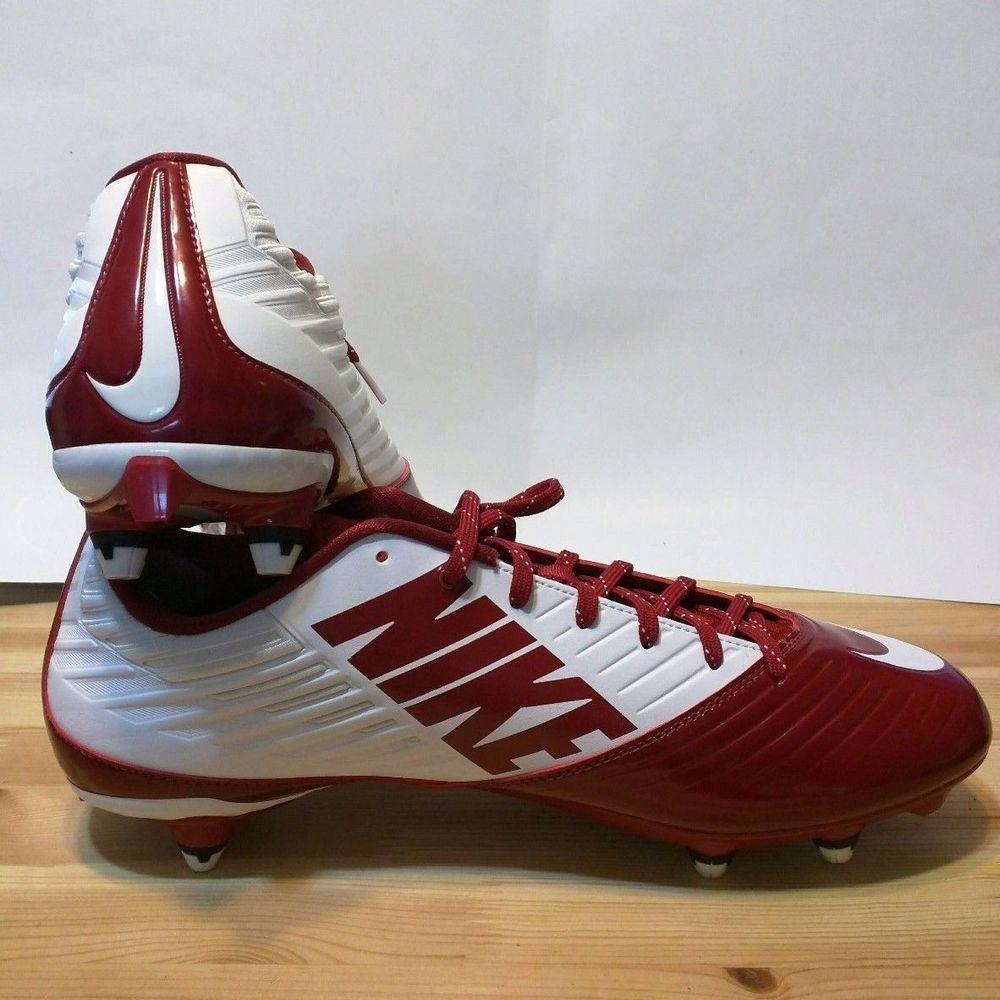 Nike vapor speed td low red white football cleats 643160