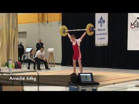 Simon Vaillancourt - 2016-02-20 Championnat Juvénile du Québec - Haltérophilie Deuxième position