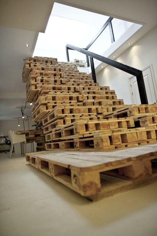 Möbel Aus Europaletten Basteln Treppe Stufen