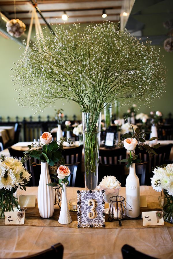 An Inexpensive Way To Add Hight To Any Table Arrangement Babys