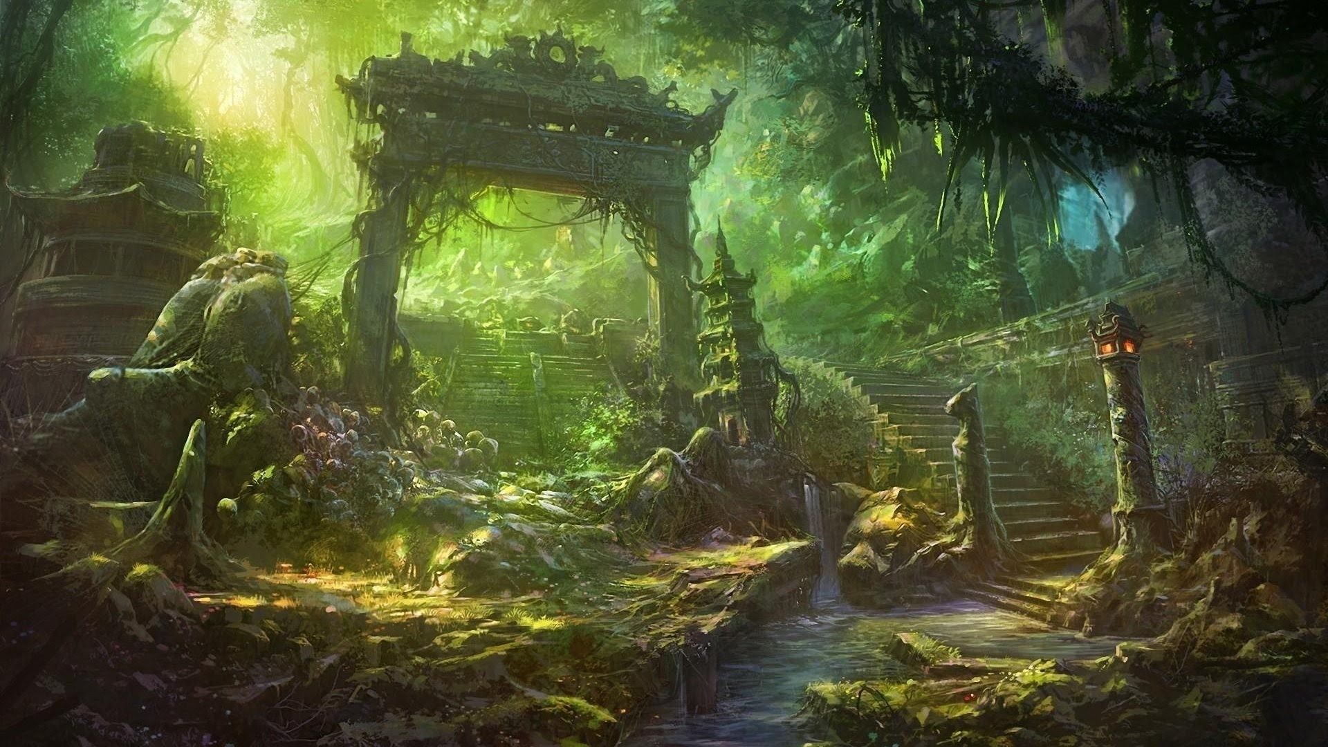RELAXING Meditation ambient music / Lost Fantasy Temple