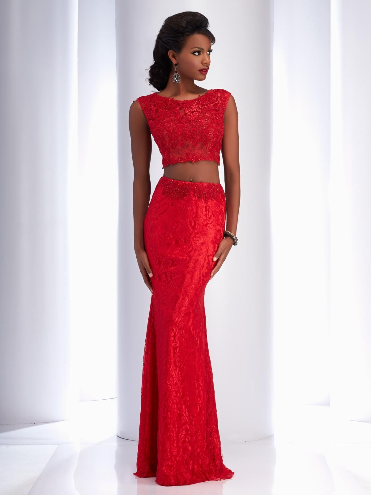 5fc1c1a7a6 Clarisse Simple Two Piece Lace Dress Style 2716. Find this simple lace two  piece dress with a cap sleeve top and keyhole open back by clicking the  where to ...