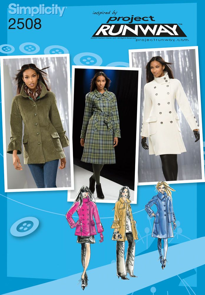 Project Runway Sewing Patterns Missesmiss Petite Lined Coat In