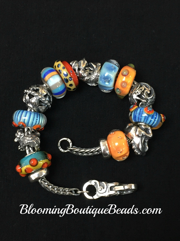 pandora bracciale arancione