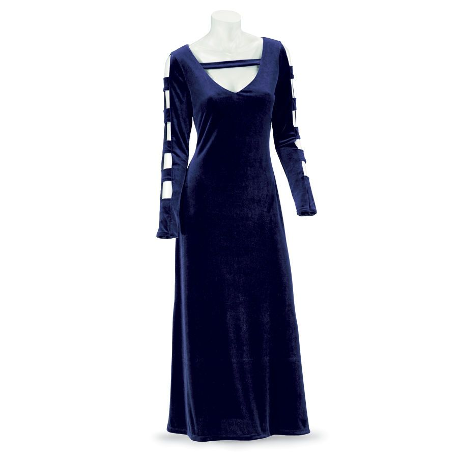 Sapphire Velvet Dress - Women's Clothing & Symbolic Jewelry – Sexy, Fantasy, Romantic Fashions