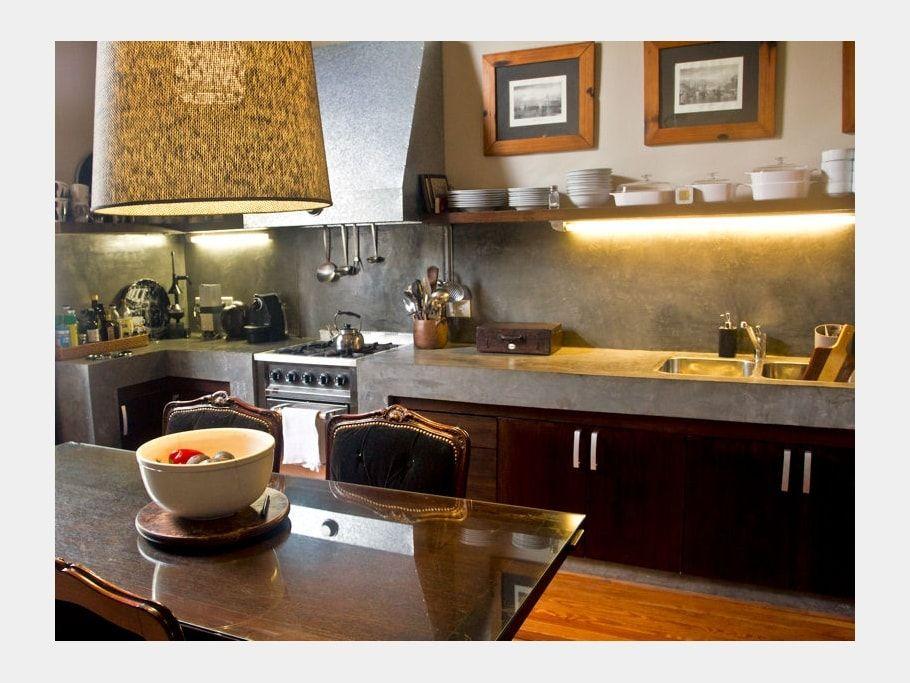 Cuisine en bois et béton | Bien luxueux | Pinterest