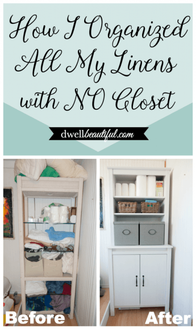 Superbe How To Organize All Of Your Linens With No Linen Closet. No Linen Closet, No  Problem! Use These Creative Ideas For Storage And Organization.