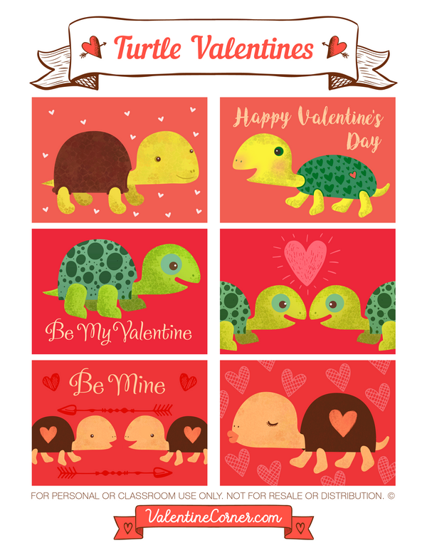 Classroom Valentines Turtley Awesome