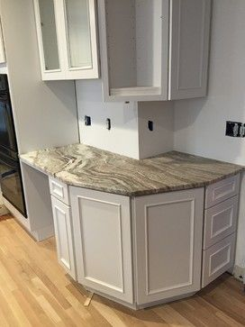 Backsplash to go with brown fantasy quartzite countertop for Lineal foot counter