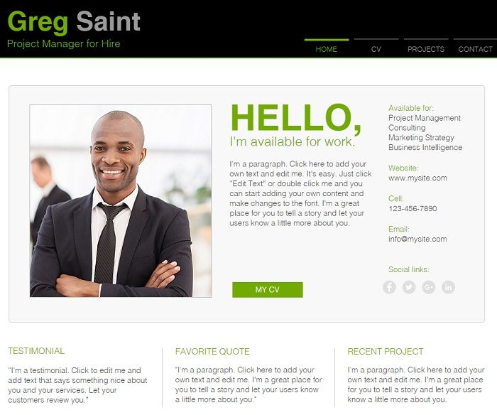 Online Cv Resume Website Templates Online Resume Website Online Resume Creative Resume