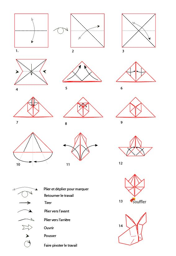 Croquis Origami Du Lapin Manga à Imprimer Eté Origami Origami