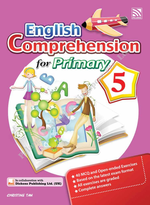 English comprehension for primary 5 english grammar book