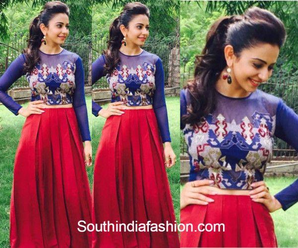 Rakul Preet Singh in Babita Malkani's Crop Top & Skirt